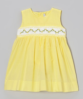 Yellow Floral Smocked Dress - Infant & Toddler