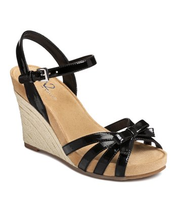 Black Ivyplush Wedge Sandal