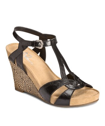 Black Plushfever Wedge Sandal