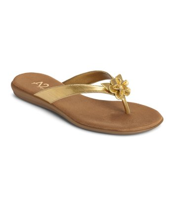 Gold Torchlight Thong Sandal