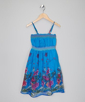 Turquoise Garden Dress