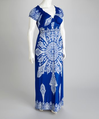 Blue Maxi Dress - Plus
