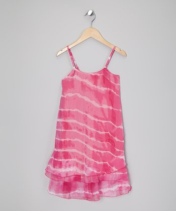 Pink Ruffle Tier Dress