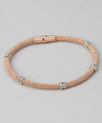Rose Gold & Silver Bead Bracelet