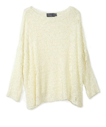 Natural Boxy Boatneck Sweater
