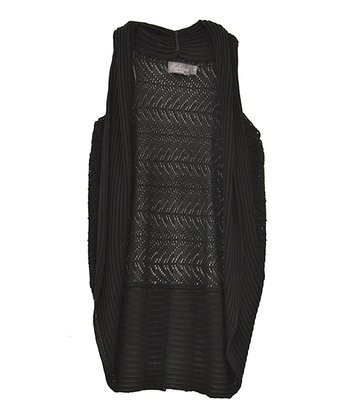 Black Duster Vest - Women
