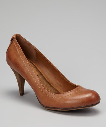 Light Brown Burnished Tressa Pump