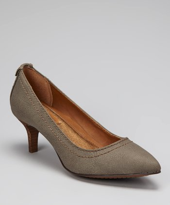 Gray Kaleigh Kitten Heel