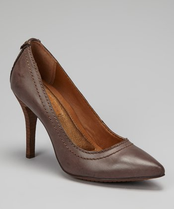 Dark Brown Burnished Maiya Pump