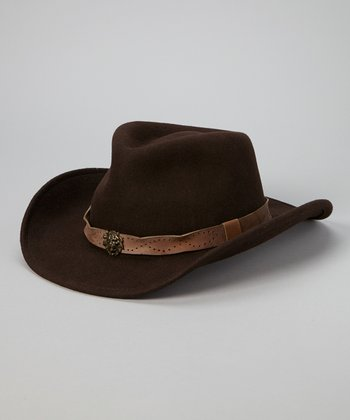 Dark Brown Banded Outback Hat