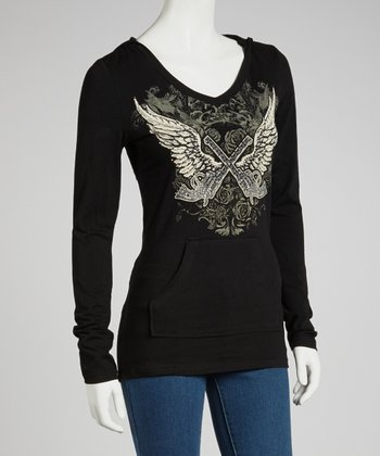 Black Cowgirls & Angels Long-Sleeve Top - Women & Plus