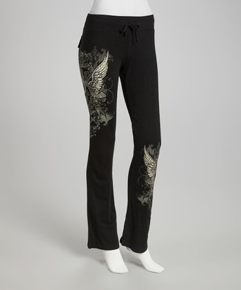 Black Cowgirls & Angels Lounge Pants - Women & Plus