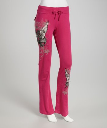 Hot Pink Cowgirls & Angels Lounge Pants - Women & Plus