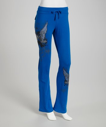 Blue Cowgirls & Angels Lounge Pants - Women & Plus
