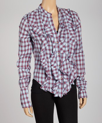 Denim Blue Morris Bradley Button-Up - Women