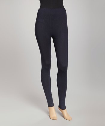 Navy French Terry Leggings