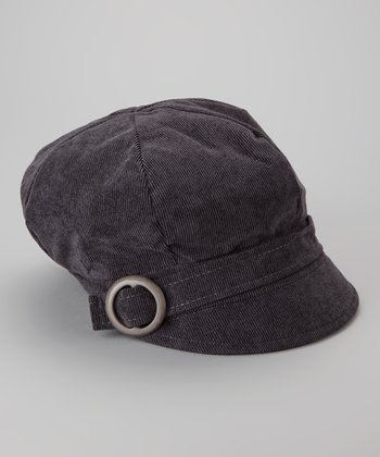 Gray Muffy Newsboy Cap