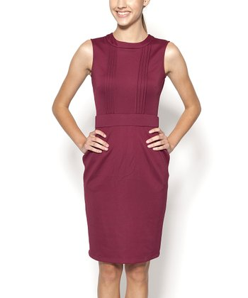 Magenta Cornelia Sleeveless Dress