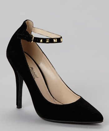 Black Momentum Ankle-Strap Pump
