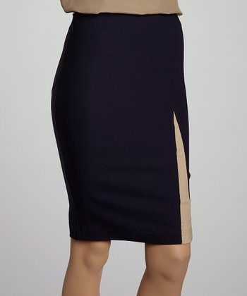 Navy Pencil Skirt