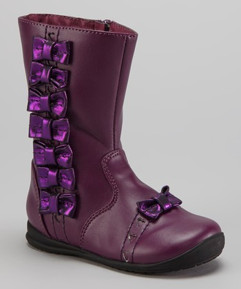 Purple Bow Boot
