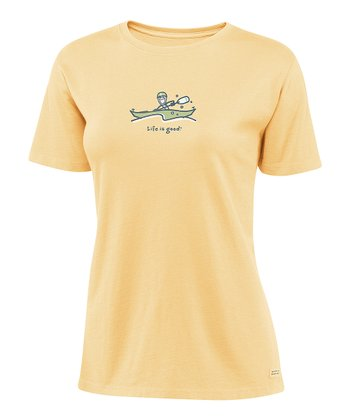 Sunny Yellow 'Kayak' Crusher Tee - Women