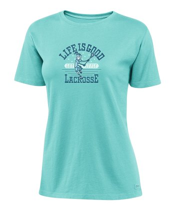Tide Blue Jackie 'Lacrosse' Crusher Tee - Women