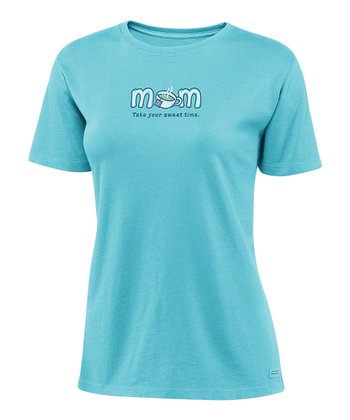 Summer Turquoise 'Mom' Crusher Tee - Women