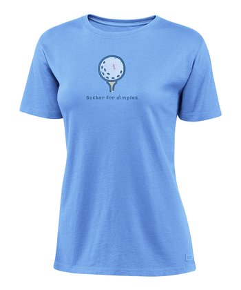 Spring Blue 'Sucker For Dimples' Crusher Tee - Women