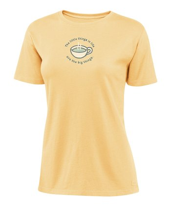 Sunny Yellow 'Little Things' Crusher Tee - Women