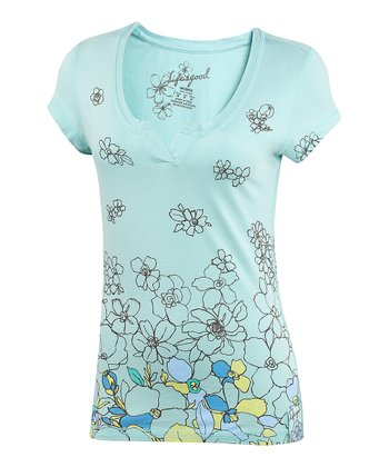 Tide Blue Topnotch Scoop Neck Tee - Women