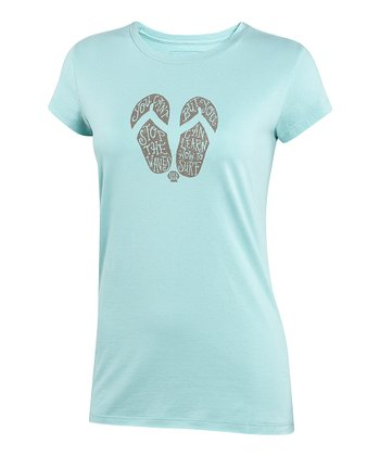 Tide Blue 'You Can't' Flip-Flop Topnotch Tee - Women