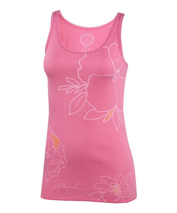 Hot Pink Lace-Trim Sleep Tank - Women