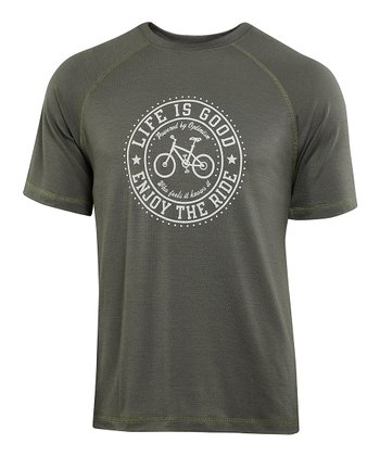 Dark Gray 'Enjoy the Ride' Good Move Tee - Men