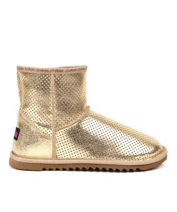 Gold Suede Lolo Mini Boot - Women
