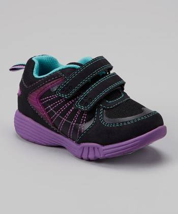 Black & Purple Light-Up Litas Sneaker