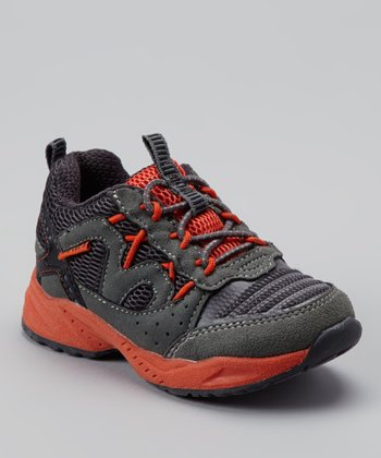 Gray & Orange Sampa Sneaker