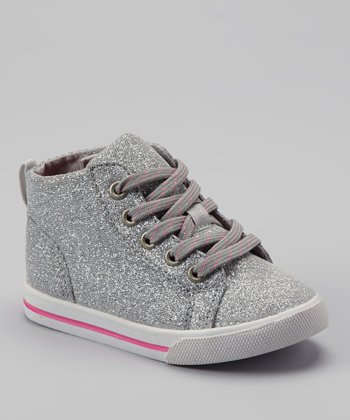Silver Glitter Barry Hi-Top Sneaker