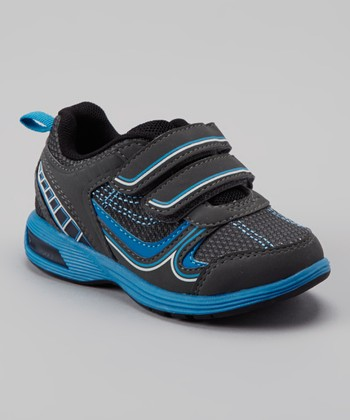 Gray & Blue Light-Up Relay Sneaker