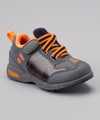 Gray & Orange Light-Up Rival Sneaker