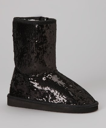 Black Sequin Dazzle Boot