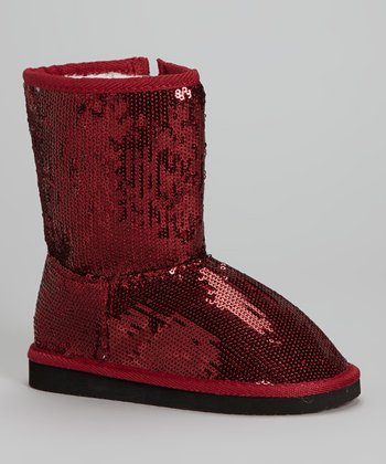 Ruby Red Sequin Dazzle Boot