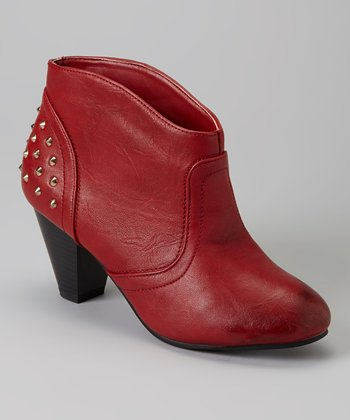 Red Katya Ankle Boot