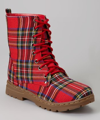 Red Plaid Boot