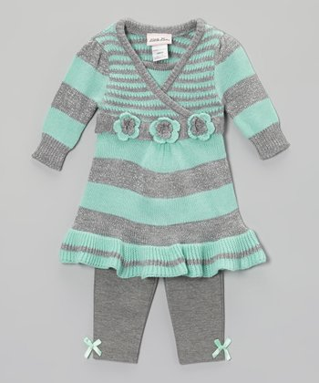 Seafoam Stripe Tunic & Leggings - Infant & Toddler