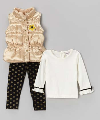 Yellow Puffer Vest Set - Infant & Toddler