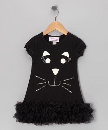 Black Cat Ruffle Dress - Infant, Toddler & Girls