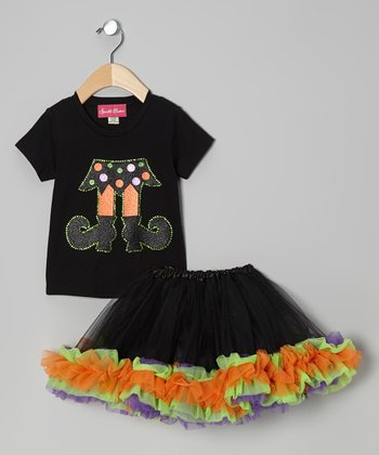 Black Witch Tee & Tutu - Infant, Toddler & Girls