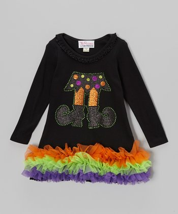 Black Witch Long Sleeve Tutu Dress - Infant, Toddler & Girls