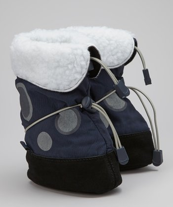 Navy Icicle Suede Boot